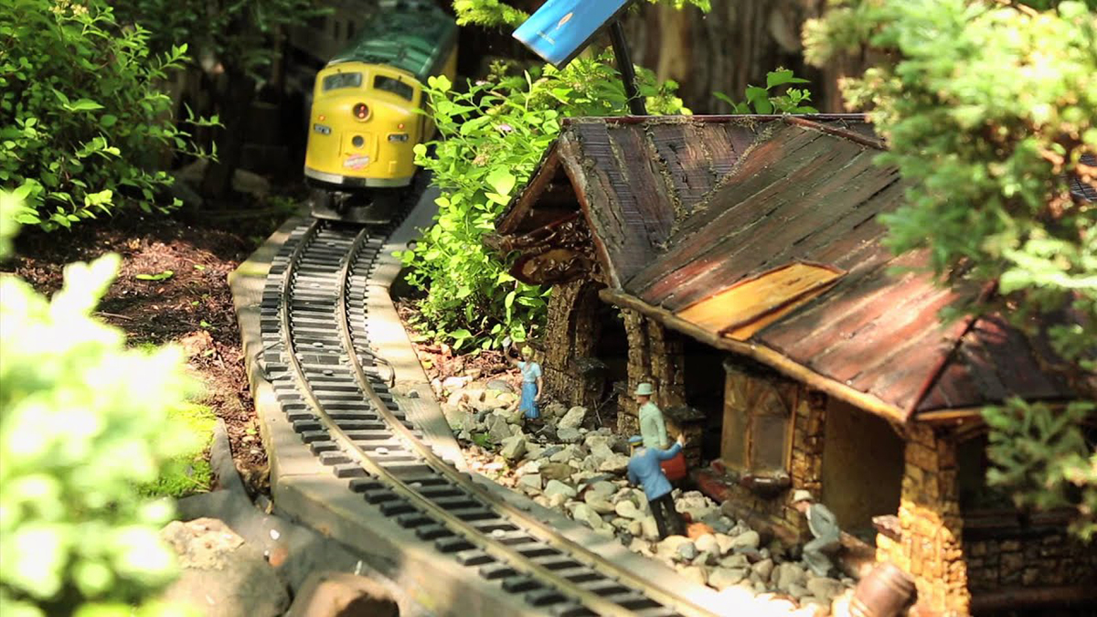 Model Railroad Garden 'Landmarks of America' at Chicago Botanic Garden
