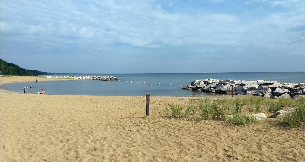 Rosewood Beach open for swimming on weekends in Highland Park