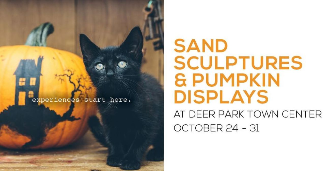 Sand Sculptures and Pumpkin Displays at Deer Park Town Center