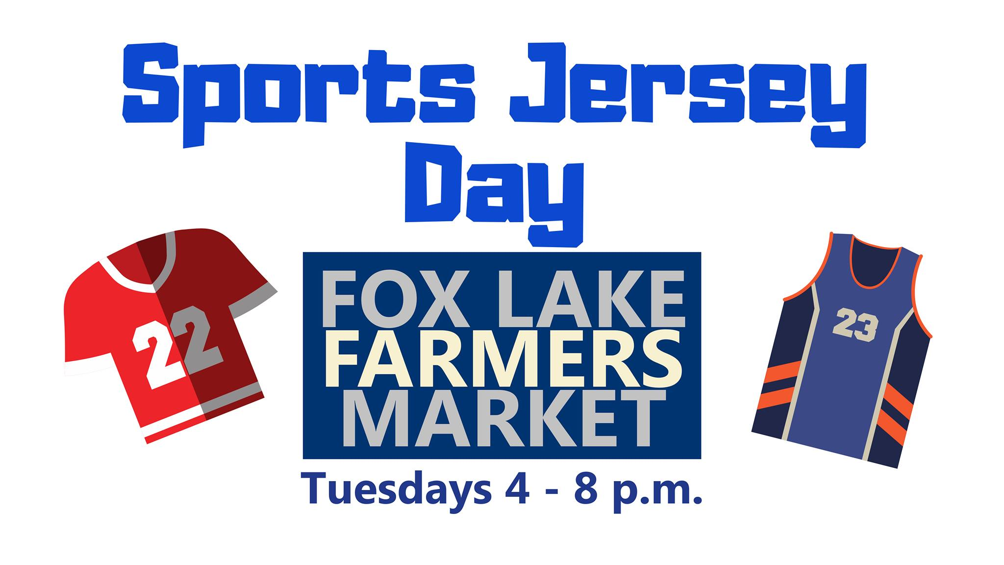 Sports Jersey Day at the Fox Lake Farmers Market