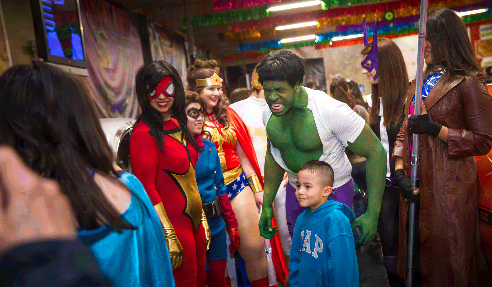 Princesses & Superheroes at Volo Auto Museum