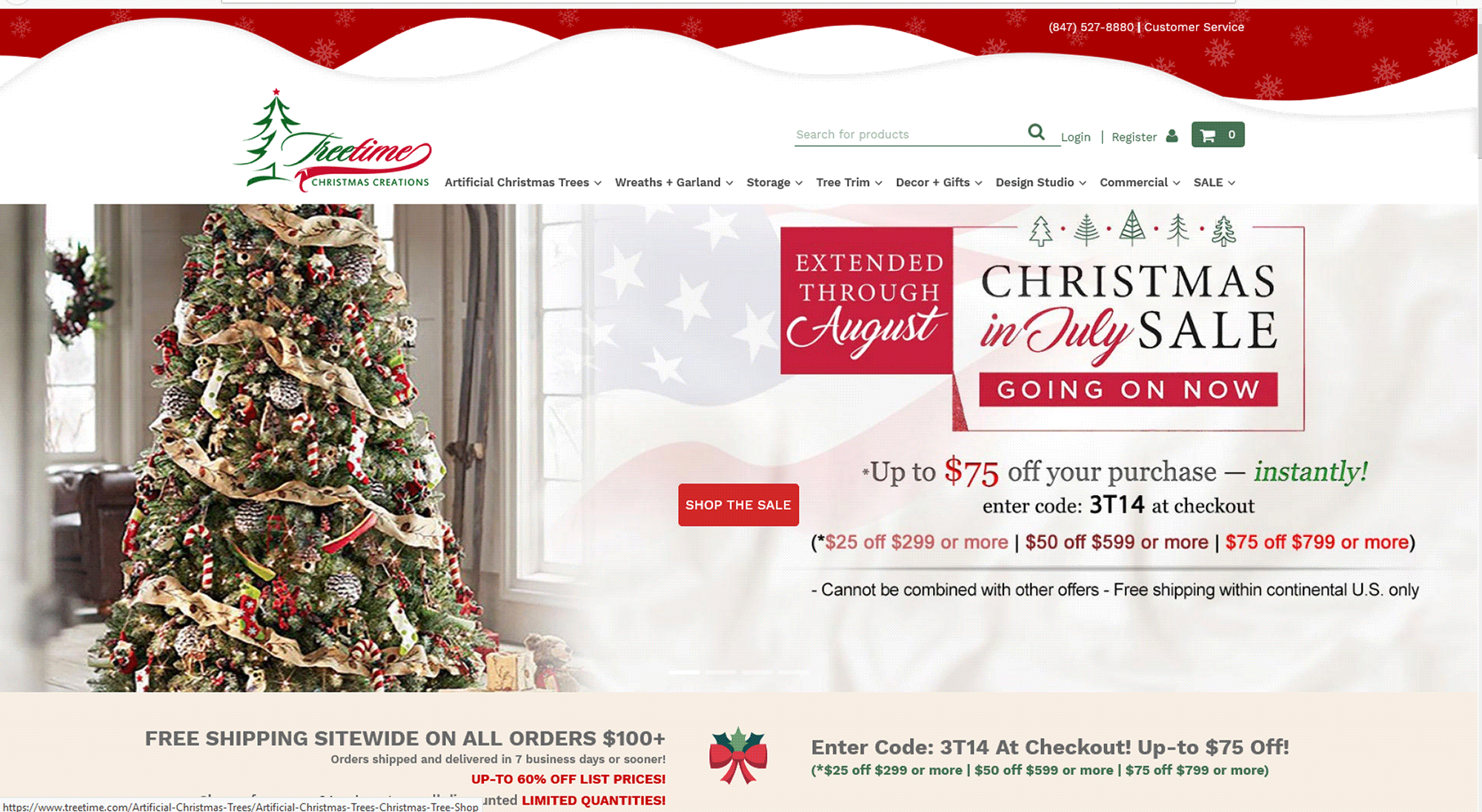 Christmas in July sale EXTENDED at Treetime Christmas Creations