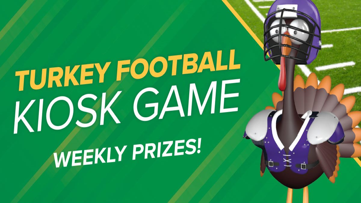 Turkey Football Kiosk Game at Potawatomi Casino