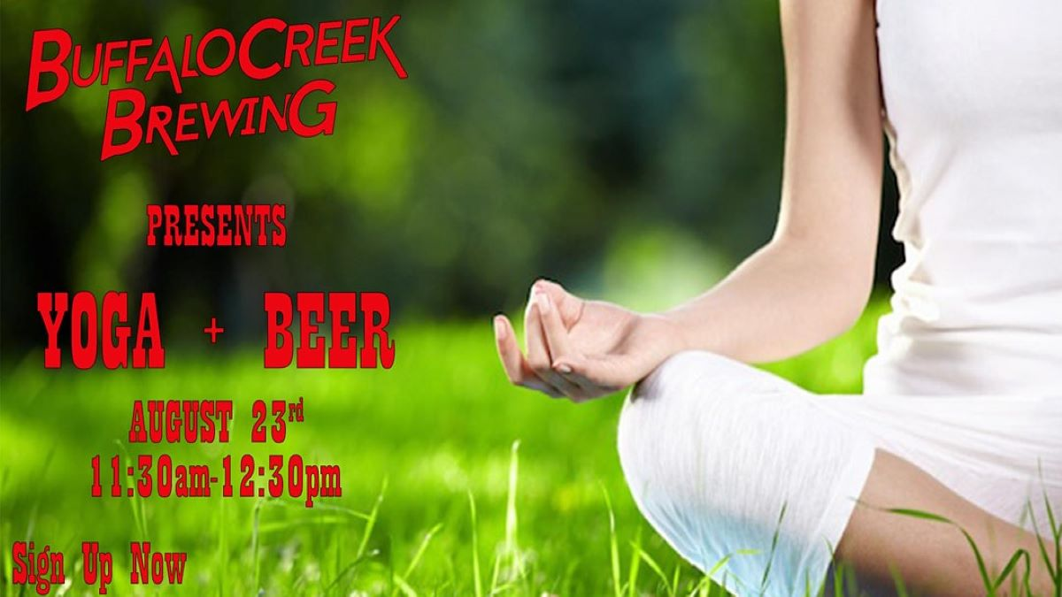 Yoga and Beer at Buffalo Creek Brewing
