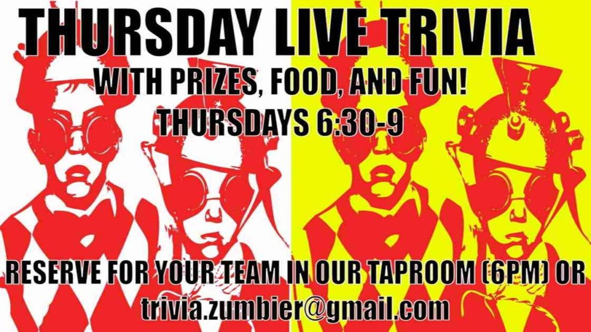 Thursday Night Trivia at ZumBier