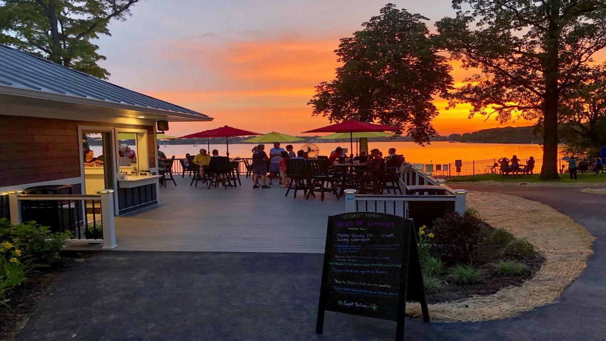 Sunset Pavilion at Breezewald Park